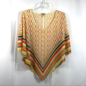 One World Yellow & White Sheer Topper Size L